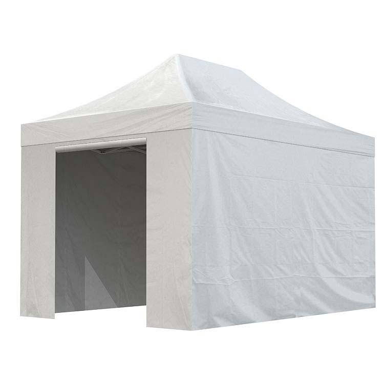Tente Eos fermée 3 m x 4,5 m - bâche PVC unie blanche