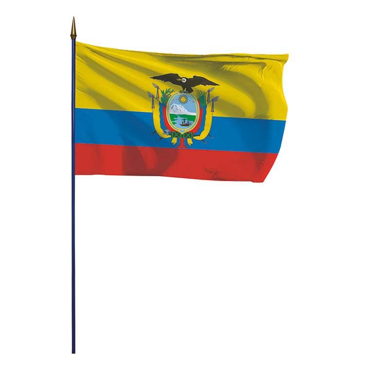 Drapeau Equateur sur hampe