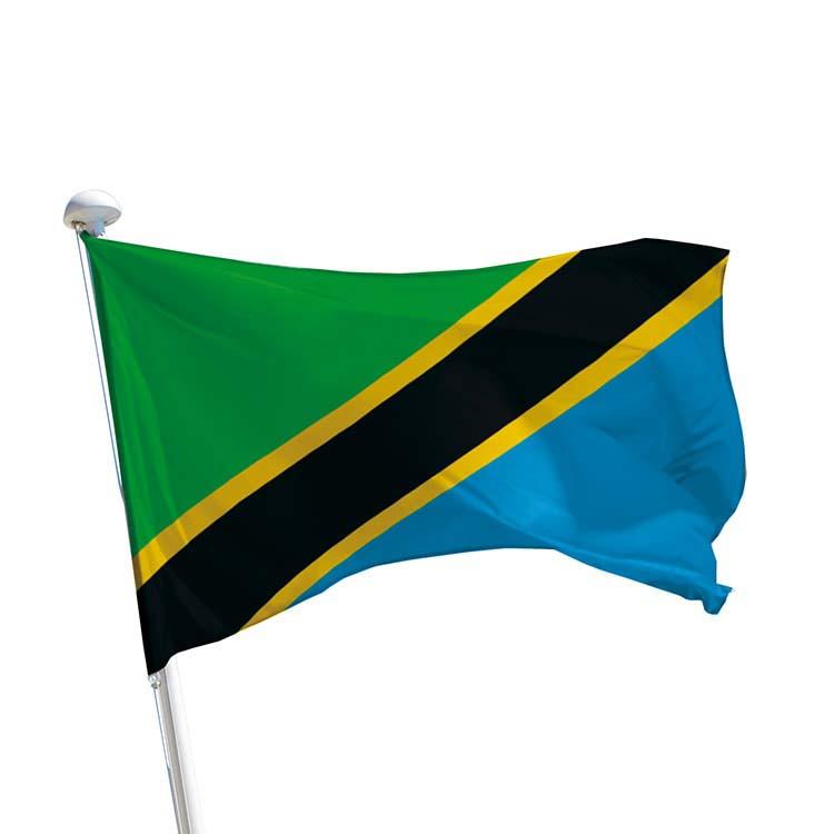 Drapeau de la Tanzanie pour mât