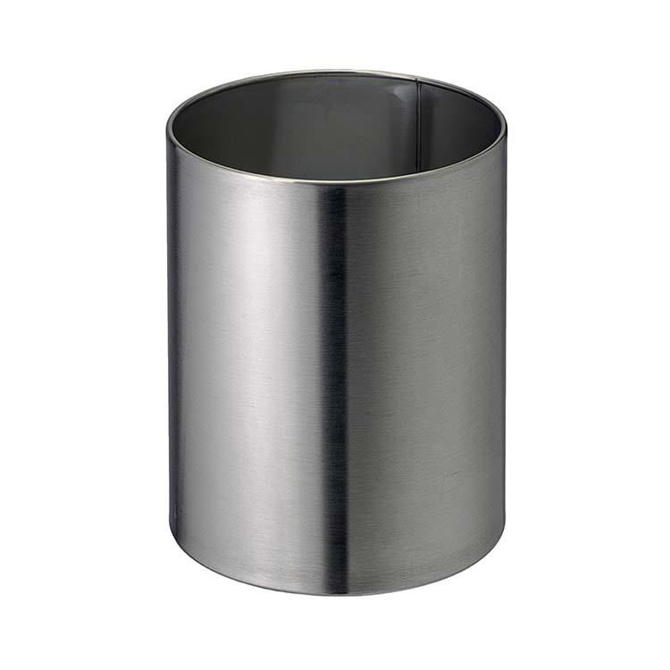 Corbeille à papier Tuby Inox brossé - 11 litres
