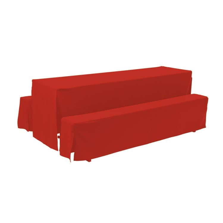Housse d'habillage rouge en polyester M4 220 x 27 cm