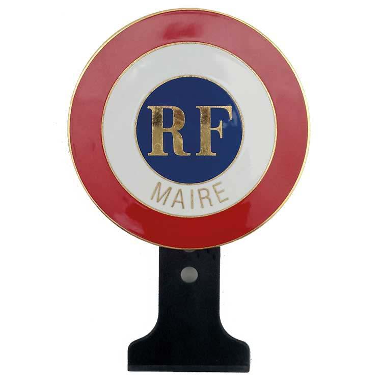 Cocarde métallique Maire + RF
