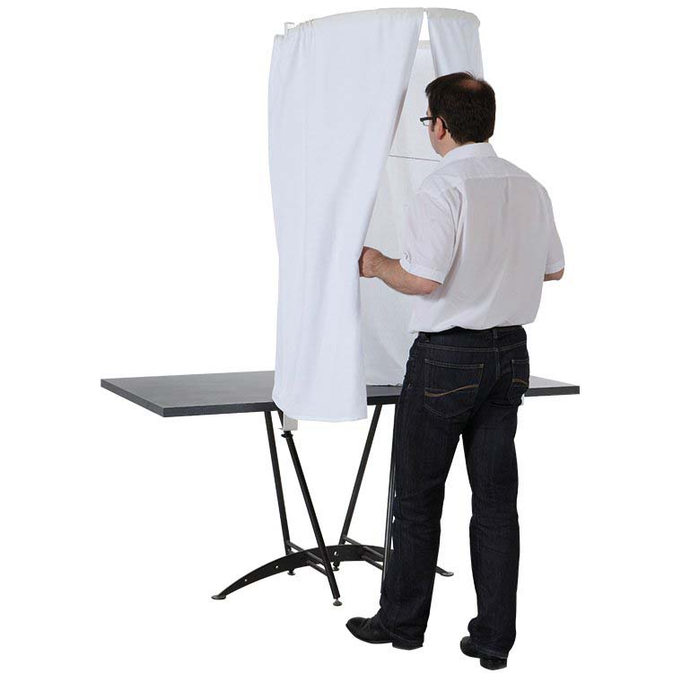 Isoloir de vote pour table