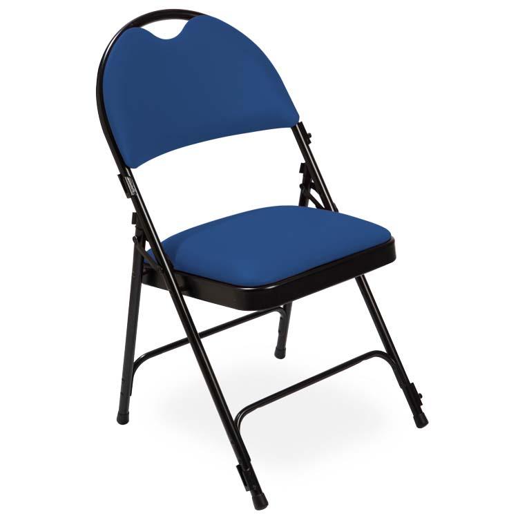 Chaise série 2600 vinyle bleu M2