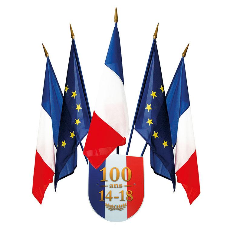 Kit ecusson porte-drapeau centenaire 14/18
