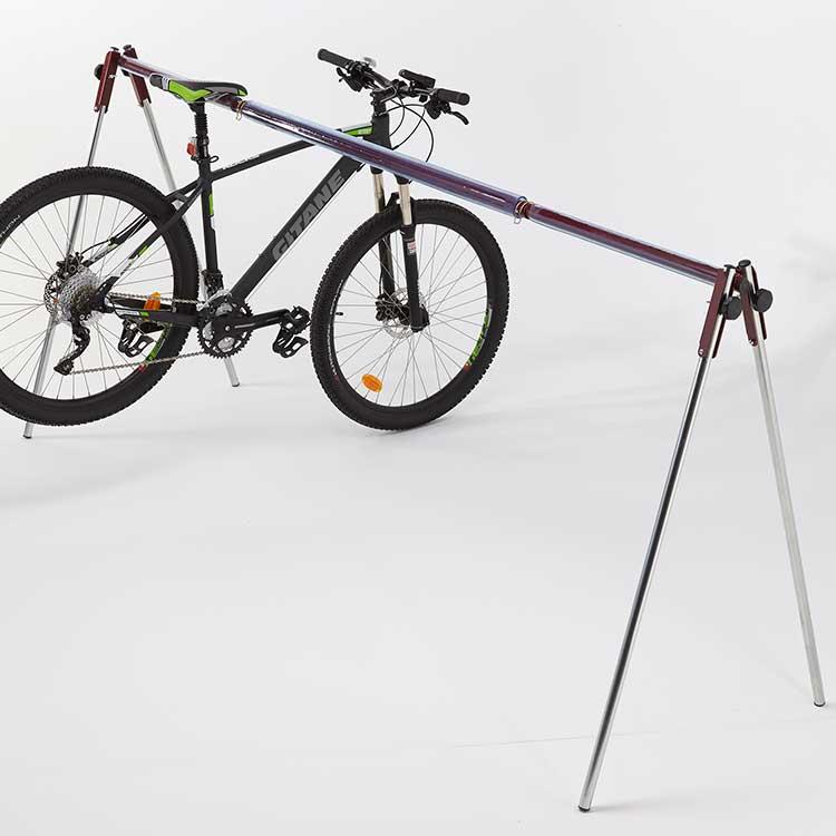 Rack à vélo pliant nomade avec cycle