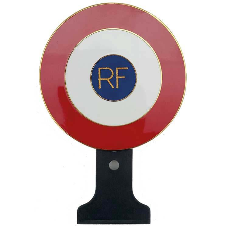 Cocarde métallique tricolore RF sans texte