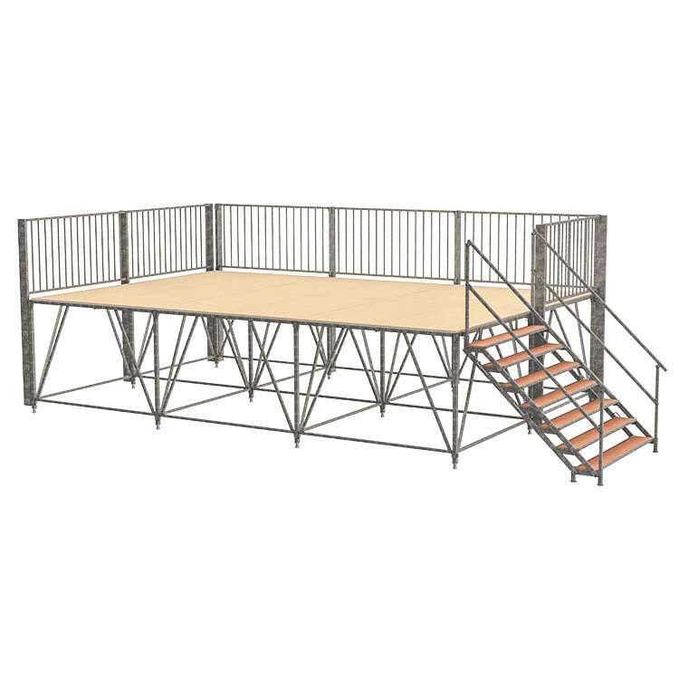 Podium démontable hauteur 1.50 m