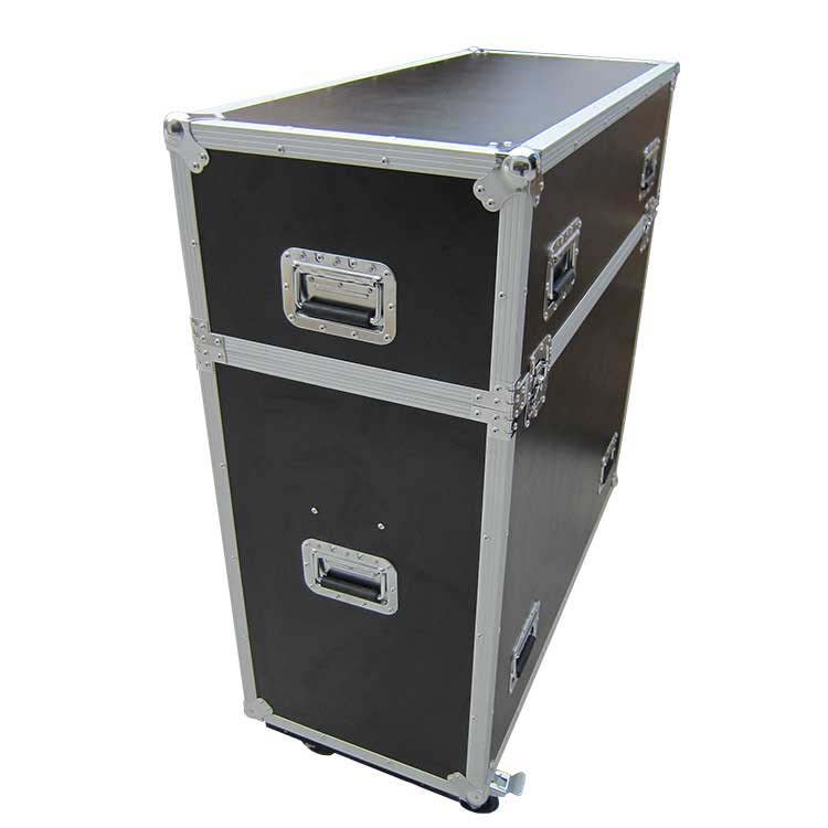 Flight case pour estrade Pop Up fermé
