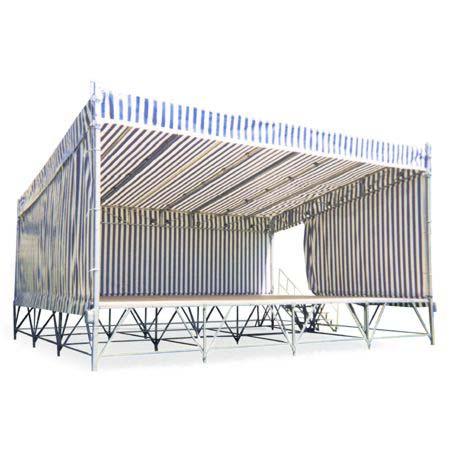 Couverture de podiums à levage par treuil