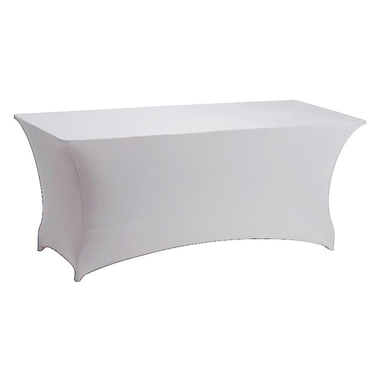 Housse stretch blanc pour table pliante rect. 183 x 76 cm