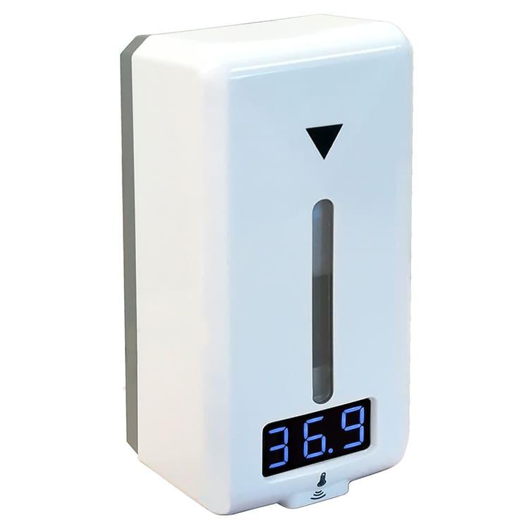 Distributeur mural de gel automatique avec thermomètre