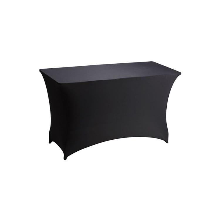 Housse stretch noir pour table pliante rect. 122 x 76 cm