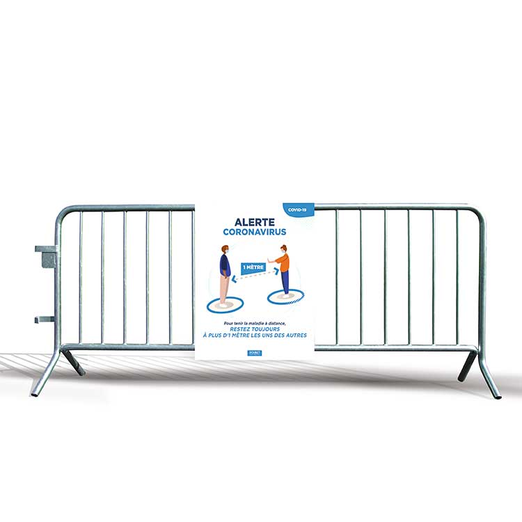 Panneau alvéolaire distance de sécurité sur barrière