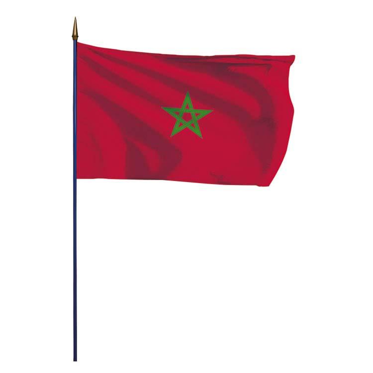 Drapeau Maroc sur hampe