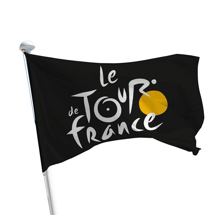 Pavillon Tour de France logo sur fond noir