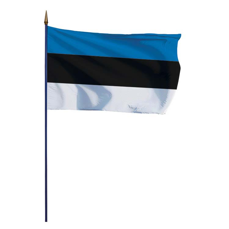 Drapeau Estonie sur hampe