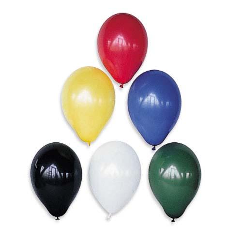 Ballons de baudruche gonflables unis