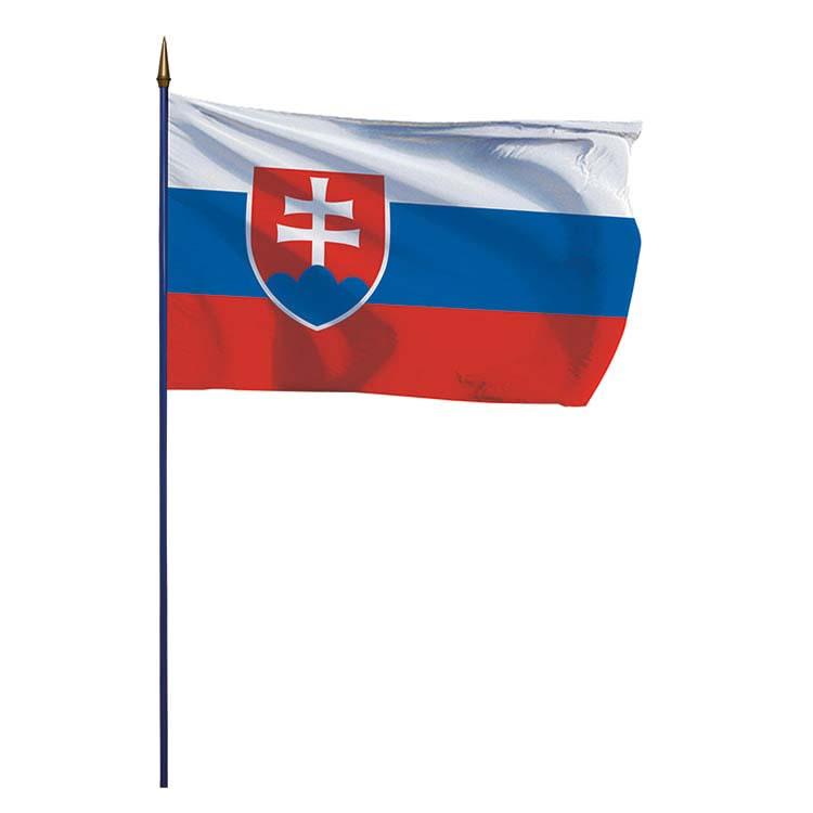 Drapeau Slovaquie sur hampe