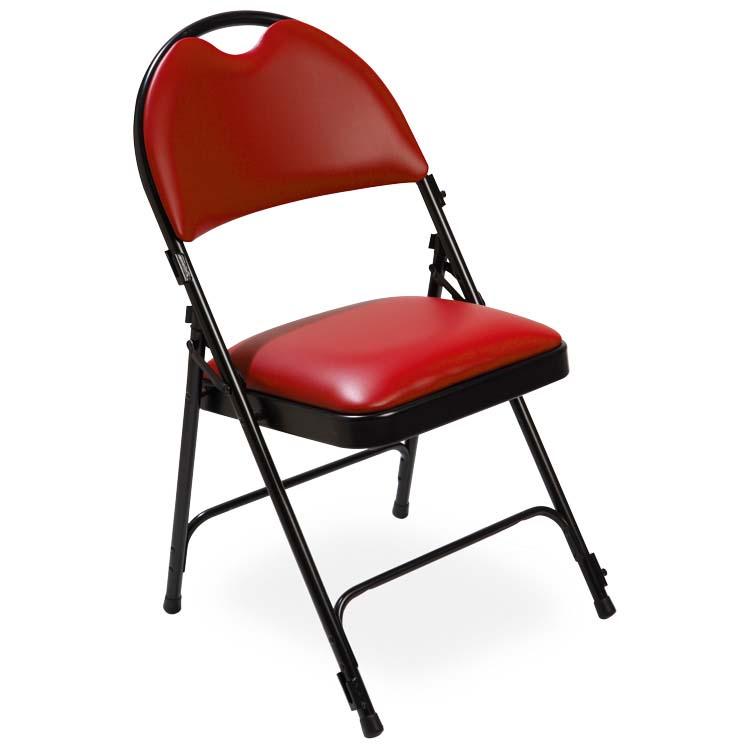 Chaise série 2600 vinyle rouge M2