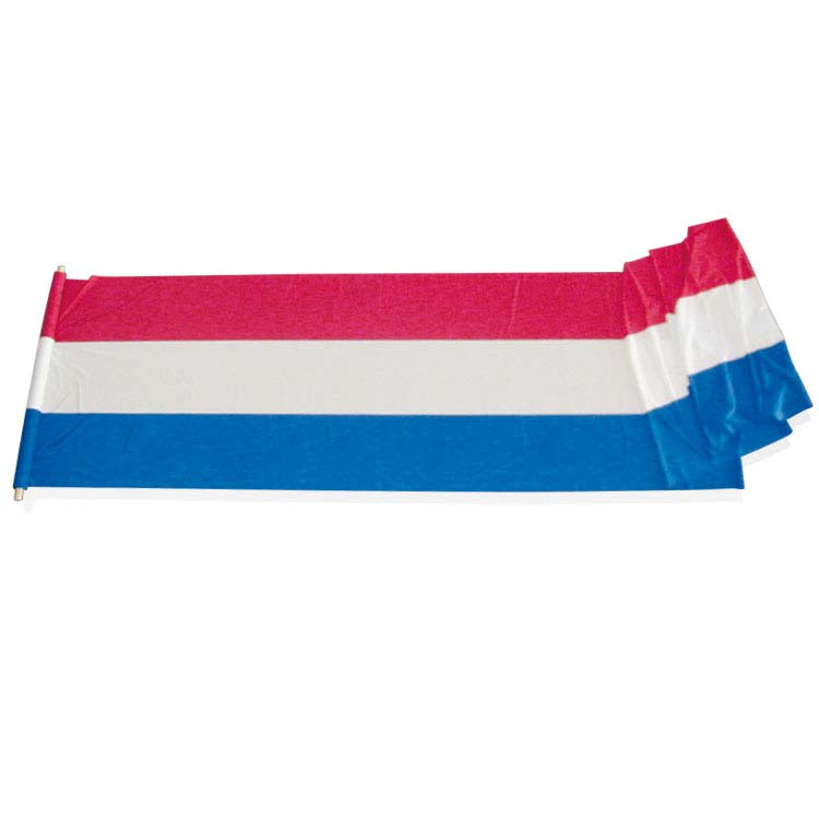 Tissu tricolore cousu en continu
