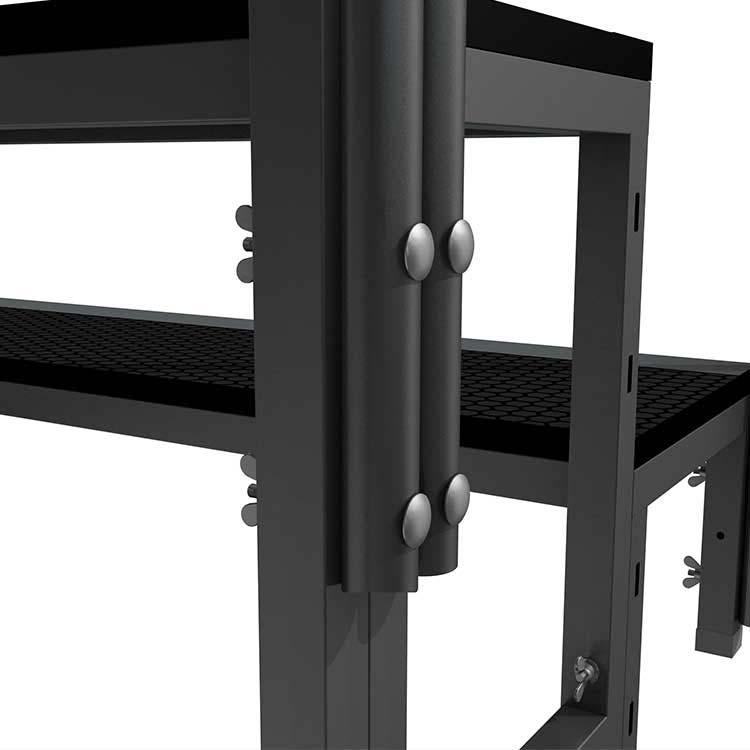 Escalier modulaire structure acier