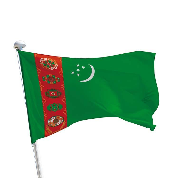 Drapeau Turkménistan pour mât