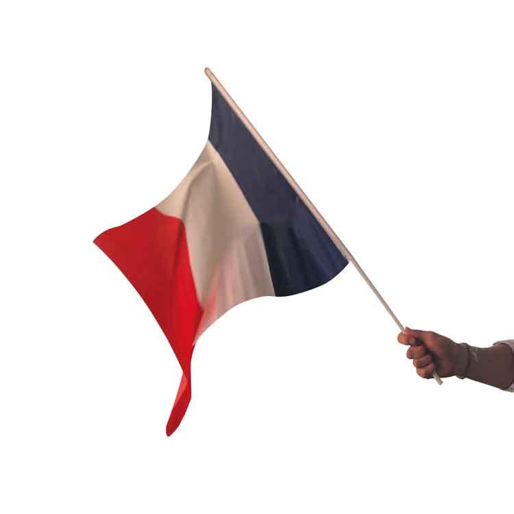 Drapeau français mondial de football 2018