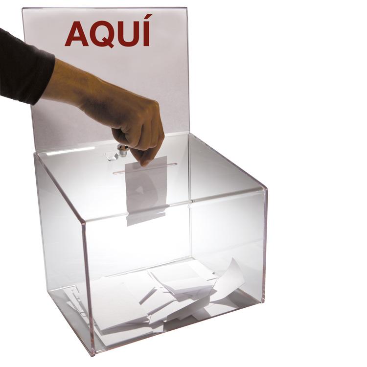 Vote dans une urne transparente