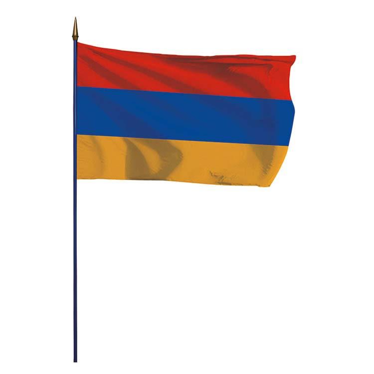 Drapeau Arménie sur hampe