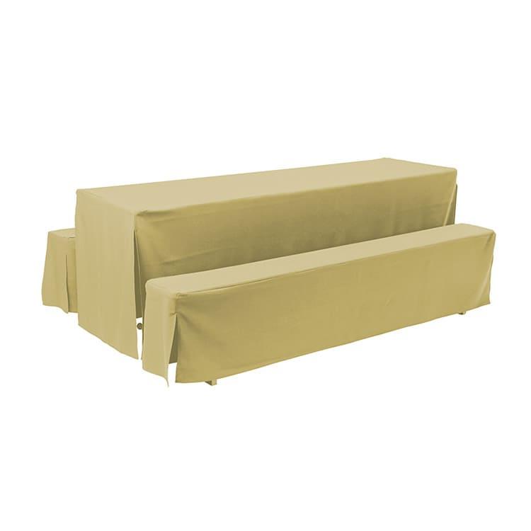 Housse d'habillage beige en polyester M4 220 x 27 cm