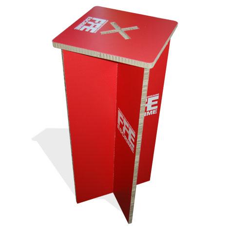 tabouret de bar en carton recyclé