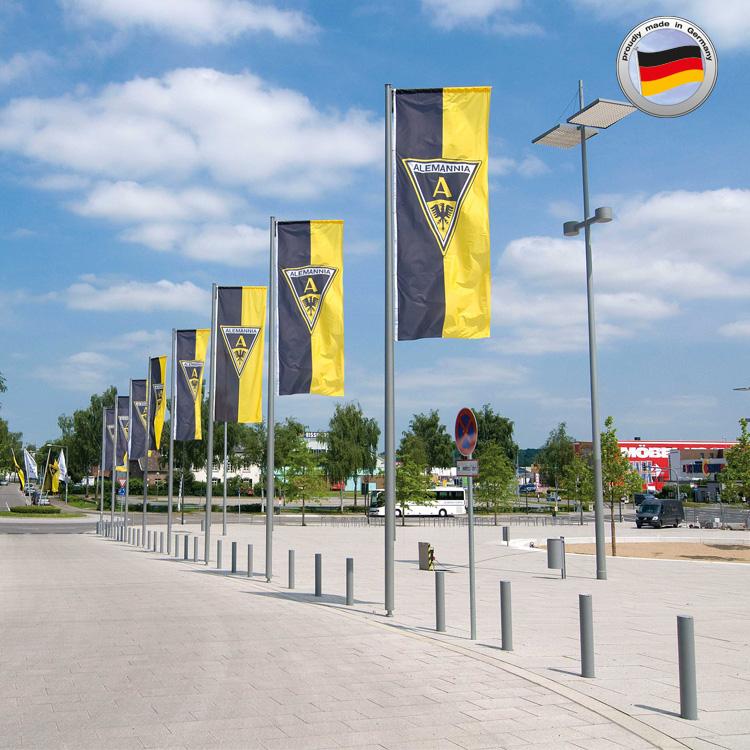 Werbefahnen Alemannia Aachen