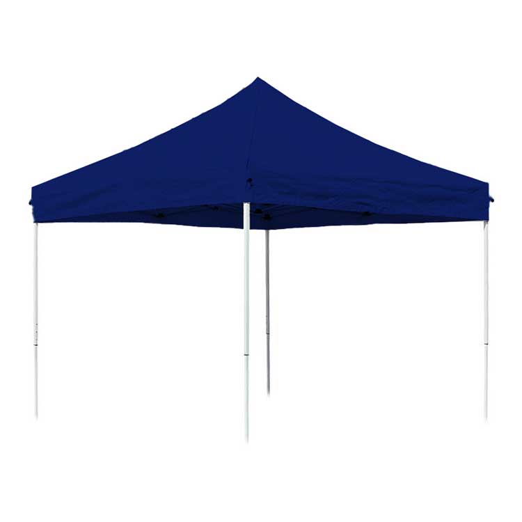 Tente pliante Eissaure 3 x 3 m ouverte - toit bleu