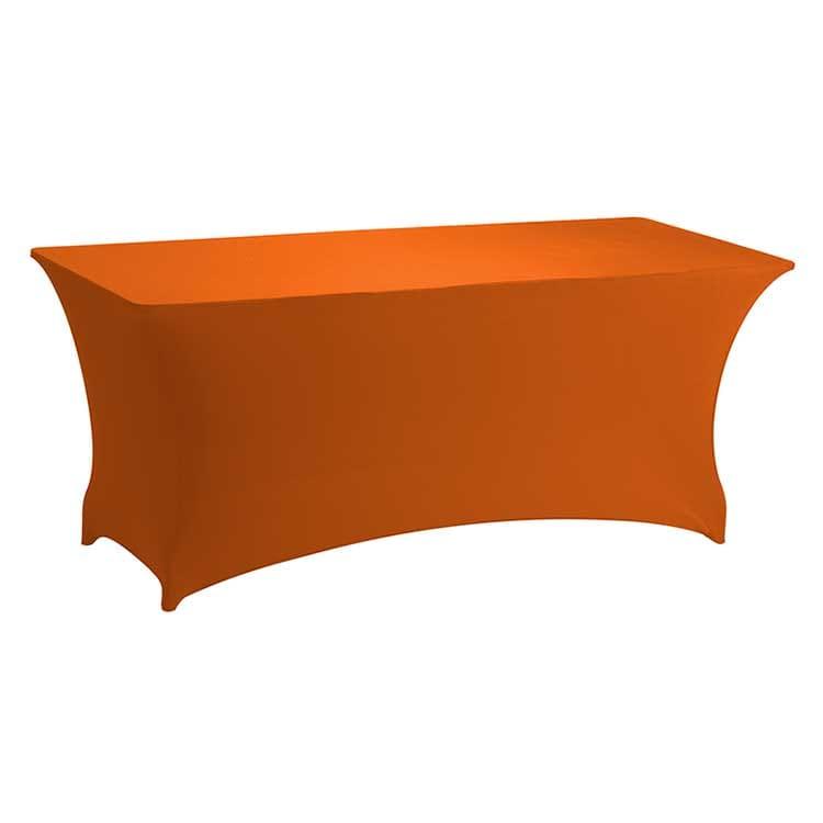 Housse stretch orange pour table pliante rect. 183 x 76 cm