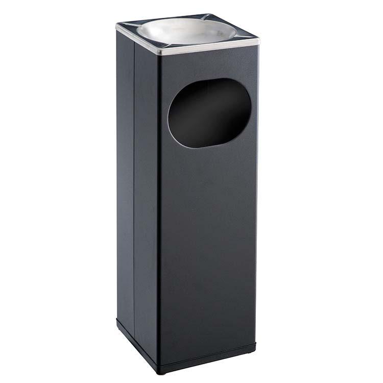 Cendrier Corbeille Kuadra noir - 15 litres