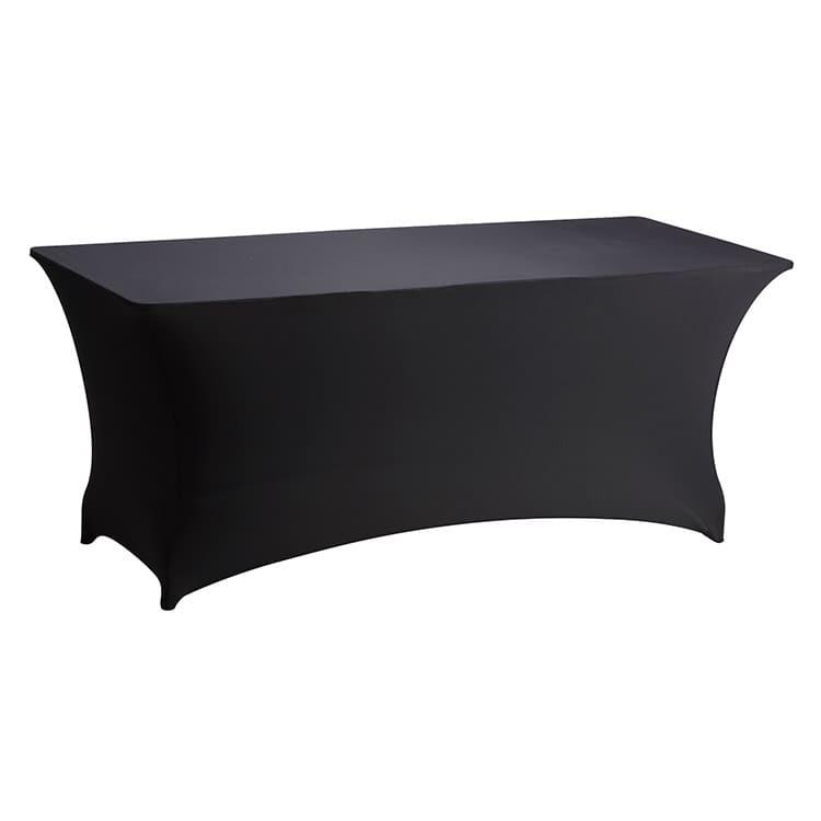 Housse stretch noir pour table pliante rect. 183 x 76 cm