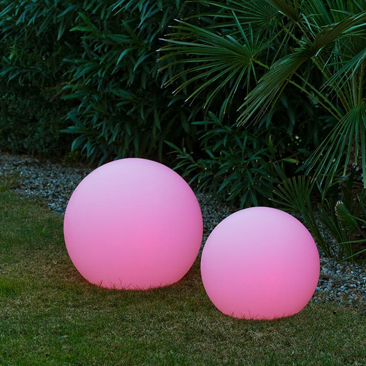 Leuchtkugel pink