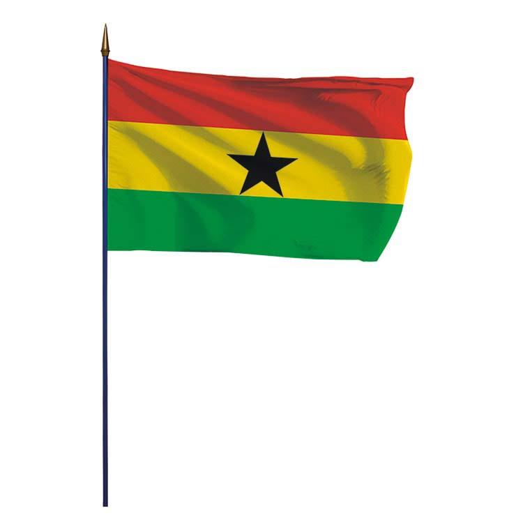 Drapeau Ghana sur hampe