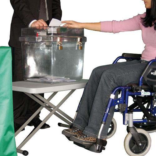 table pour urne de vote réglable en hauteur