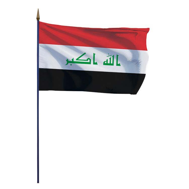 Drapeau Irak sur hampe