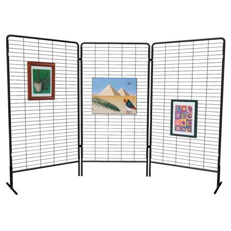 3 panneaux grille Labelexpo