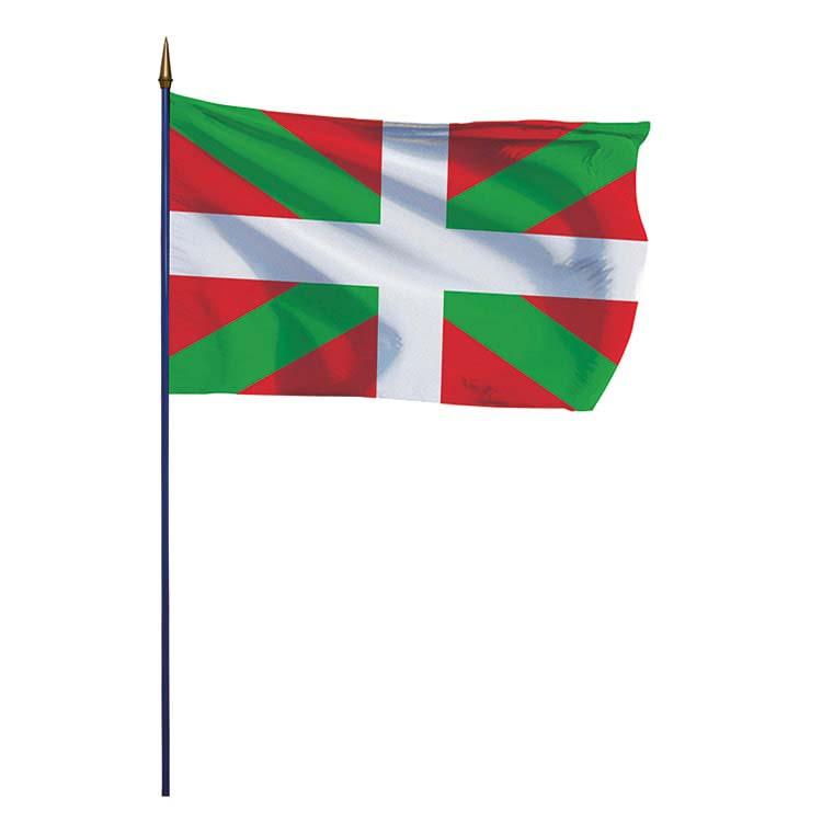 Drapeau province du Pays Basque sur hampe