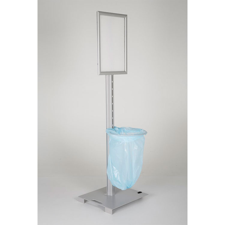 Borne d'hygiène avec porte-affiche et support sac poubelle