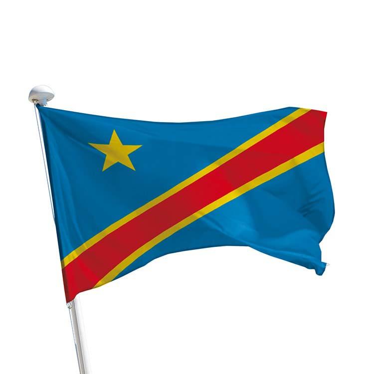 Drapeau République Démocratique du Congo pour mât