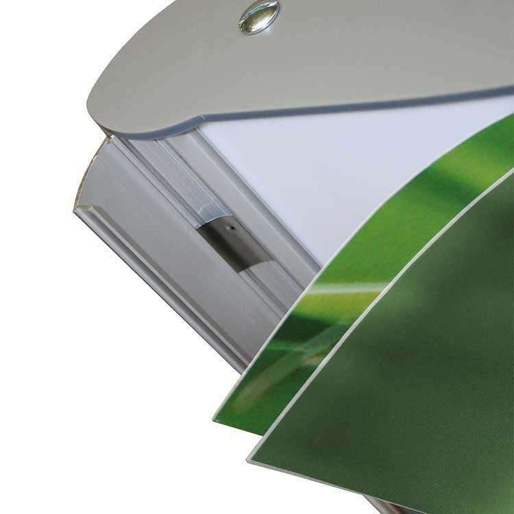 profilés clippants anodisés en aluminium