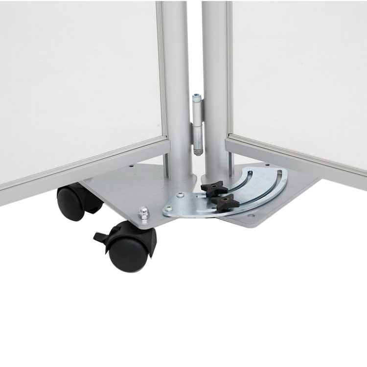 Connecteur 90° pour paroi de séparation vitrée