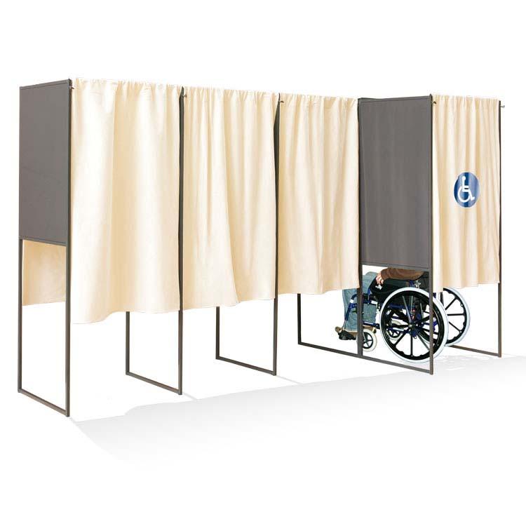 Isoloir de vote pour personnes handicapées