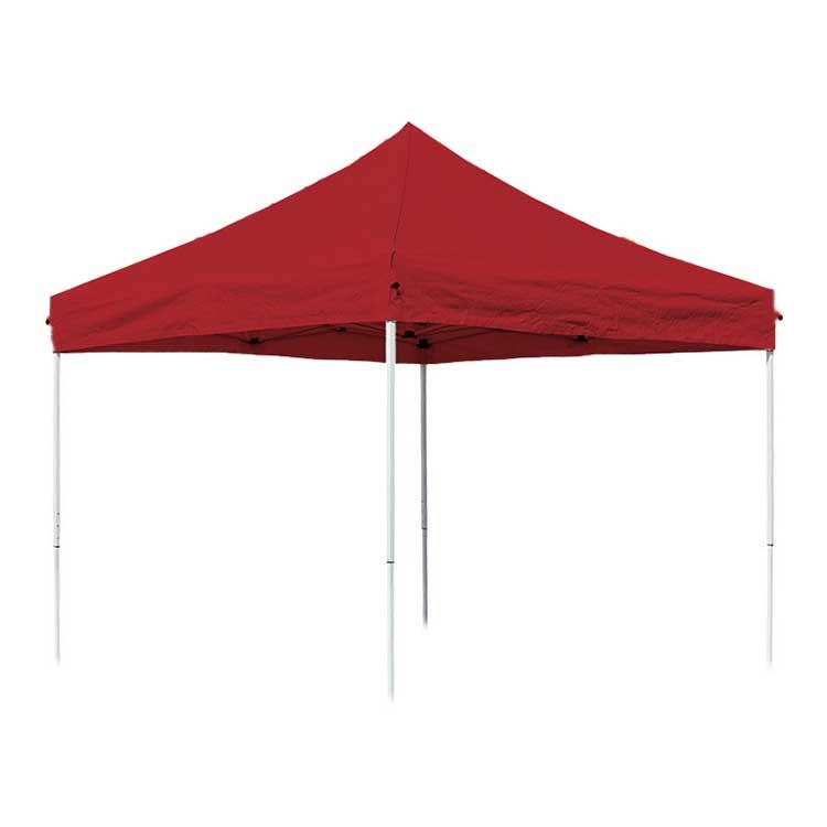 Tente pliante Eissaure 3 x 3 m ouverte - toit rouge