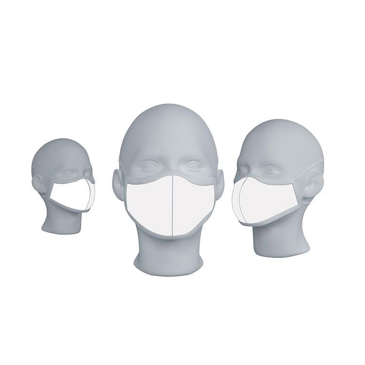 Masque de protection en tissu réutilisable blanc